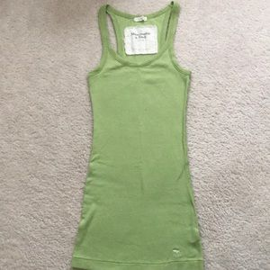Abercrombie & Fitch Light Green Racerback Tank